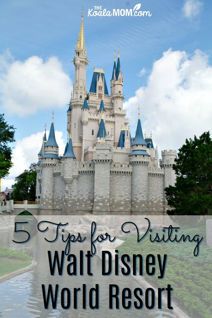 5 tips for visiting Walt Disney World Resort, from a mom who's been there done that with her family and shares her tips to help you plan your Disney vacation!