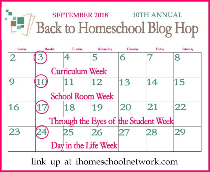Back to Homeschool Blog Hop September 2018