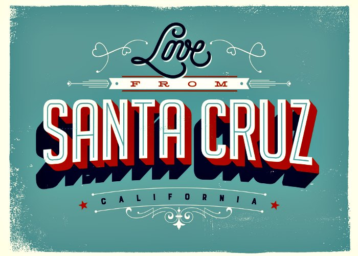 Love from Santa Cruz, California - plan a romantic couple's getaway together!