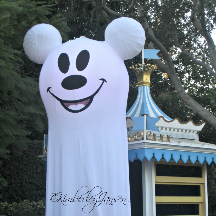 Mickey ghost at Mickey's Halloween Party at the Disneyland Resort