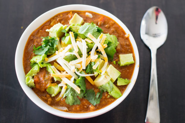 Taco Casserole with Avocado - an easy, family-friendly crock meal