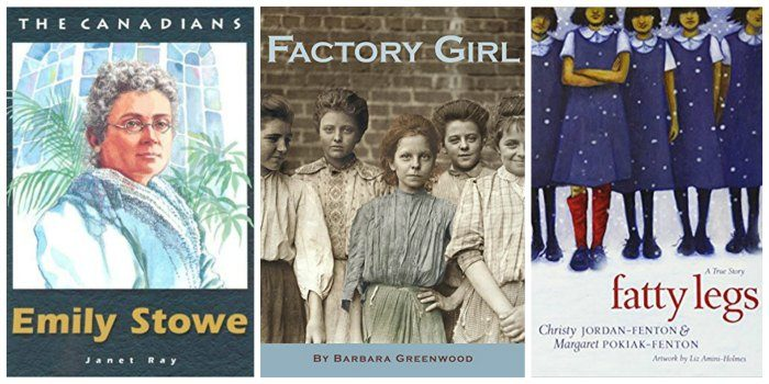 Canadian nonfiction for tween girls, including Fatty Legs and Factory Girl.