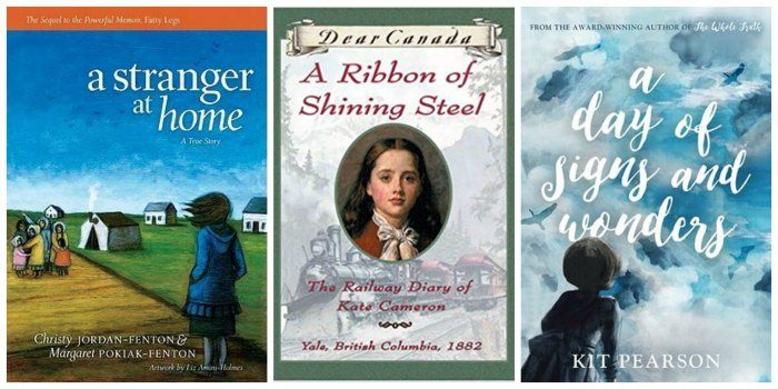 A Stranger at Home, A Ribbon of Shining Steel, and A Day of Signs and Wonders - three books on my list of Great Books for Canadian Tween Girls