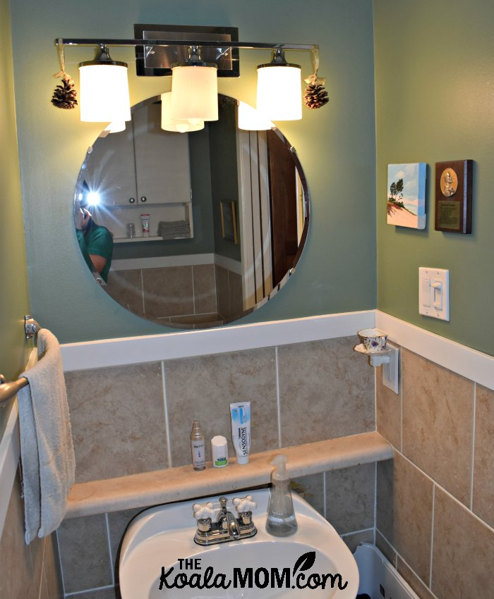 My ensuite bathroom makeover turned our small half-bath into my favourite room in our condo!