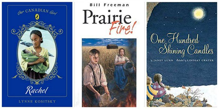 Three great books for Canadian tween girls, including Rachel (about the Underground Railway), Prairie Fire (about pioneers) and One Hundred Shining Candles (about World War II)
