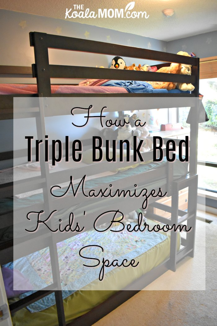 How a triple bunkbed maximizes kids' bedroom space