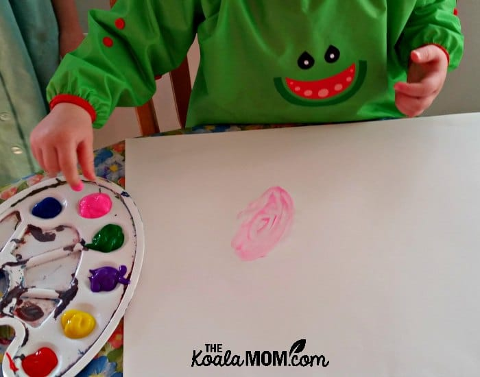 The Bibado baby bib also works great as a painting smock for toddlers!