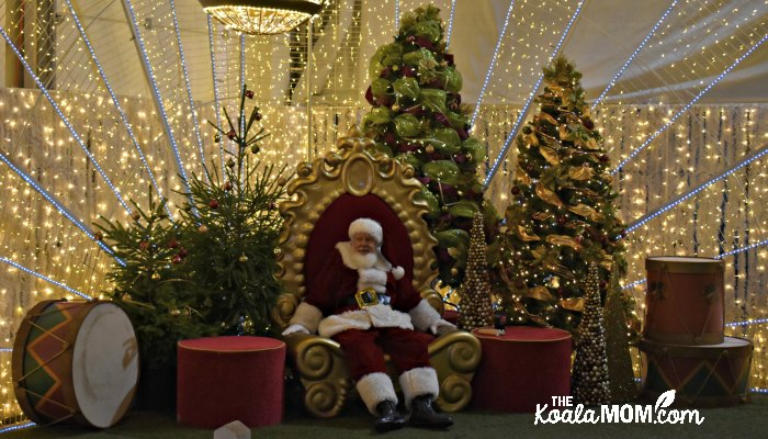 Santa ready for photos at Christmas Glow.