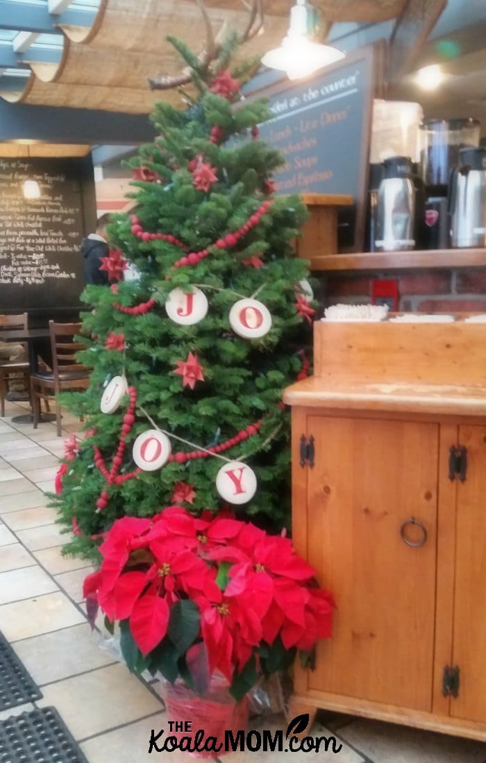 Christmas tree at the Muddy Waters Cafe in Harrison Hot Springs