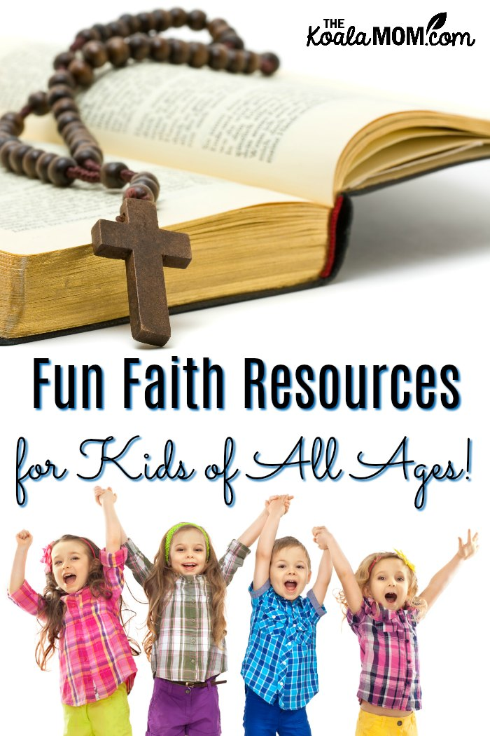 Fun Faith Resources for Kids of All Ages! This mega list includes books, websites and apps, hands-on resources and more to inspire your kids to grow in their faith.