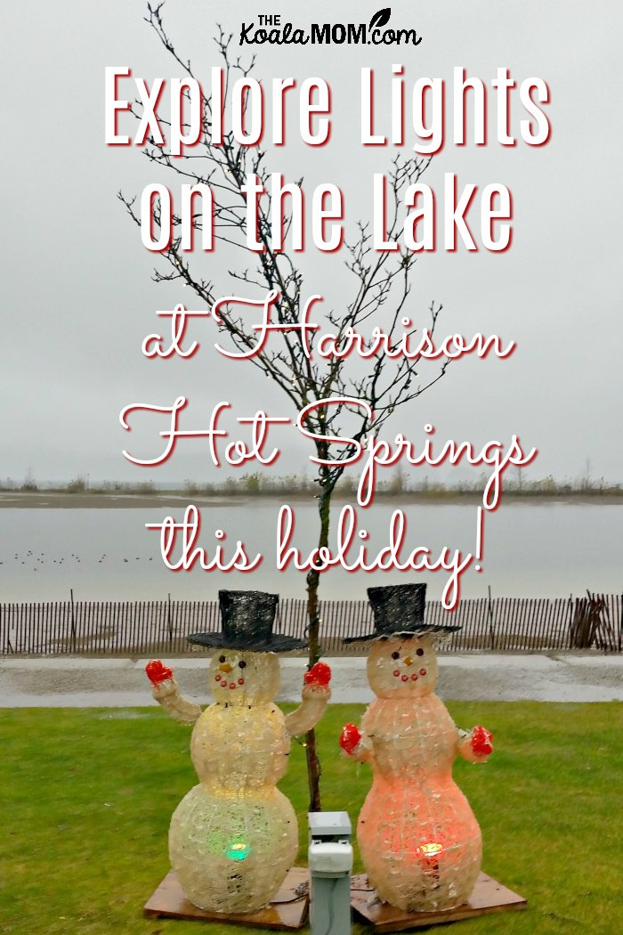 Explore Lights on the Lake at Harrison Hot Springs this holiday!