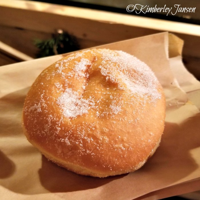 Berliner (German donut) at the Vancouver Christmas Market