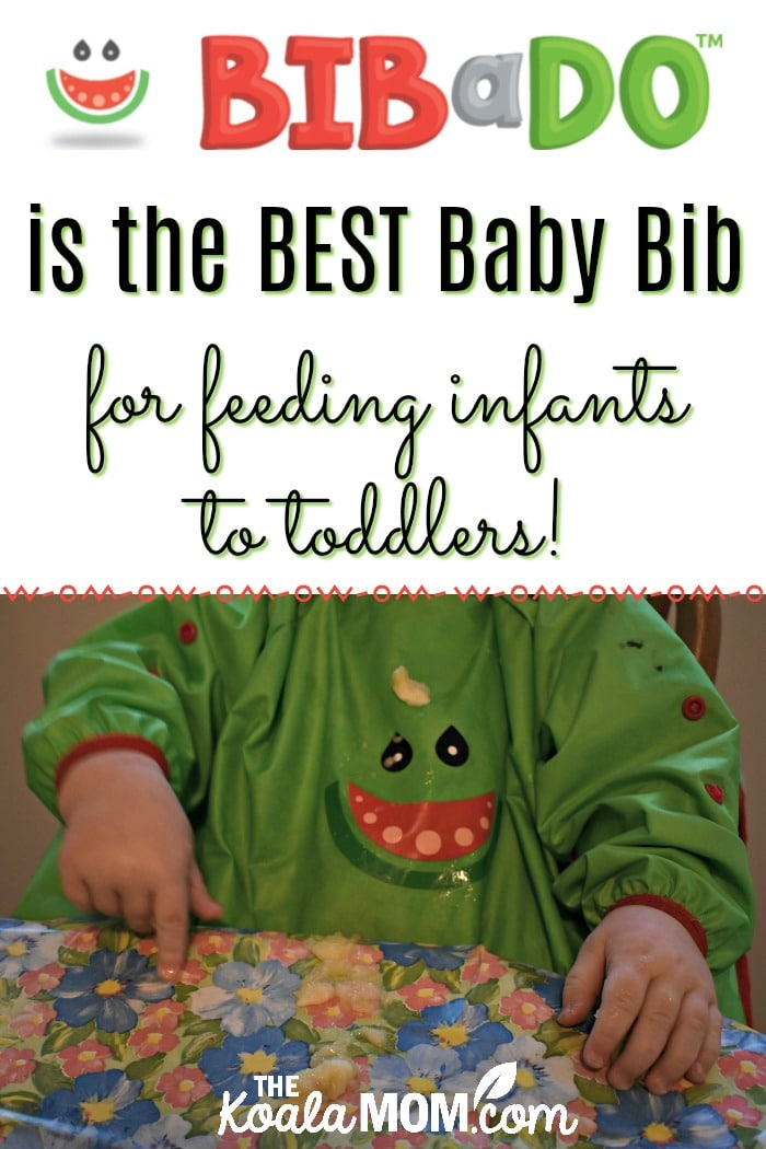BIBaDO is the BEST baby bib for babies from infants to toddlers! Perfect for baby-led weaning, infant feeding, finger painting, and any other activity where you want to keep baby's clothes clean!