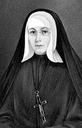Blessed Marie-Rose Durocher, founder of the Congregation of the Sisters of the Holy Names of Jesus and Mary and  one of twelve Canadian Catholic blesseds