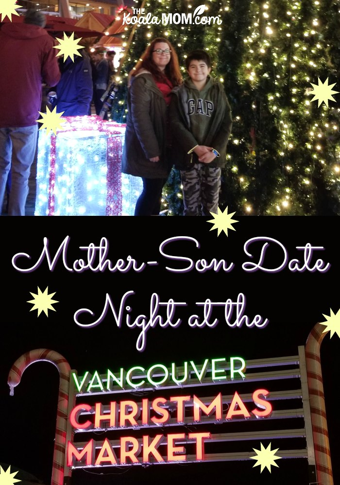 Mother-son date night at the Vancouver Christmas Market