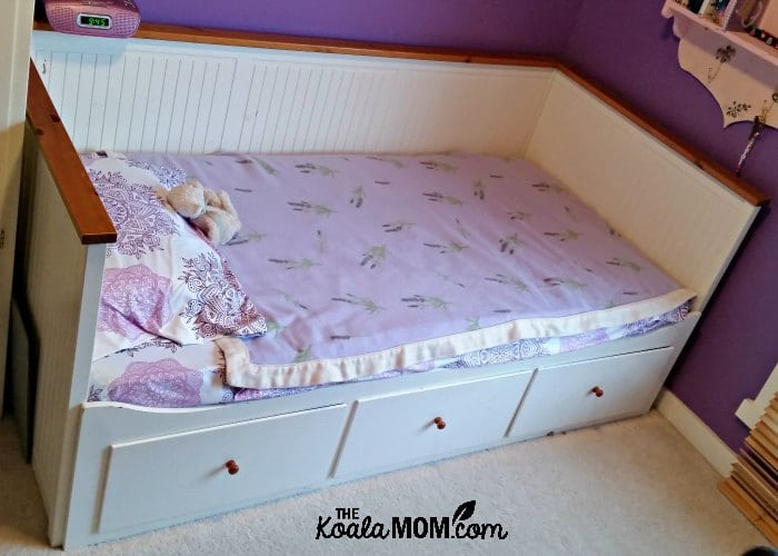 A captain's bed is a great way to save space in a bedroom as the drawers under the bed provide storage too.