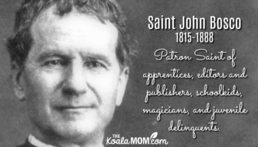 Saint John Bosco (1815-1888) is the patron saint of apprentices, editors and publishers, schoolchildren, magicians, and juvenile delinquents.