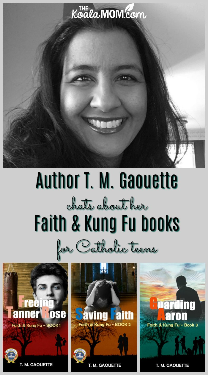 Author T. M. Gaouette chats with the Koala Mom about her Faith & Kung Fu books for Catholic teens.