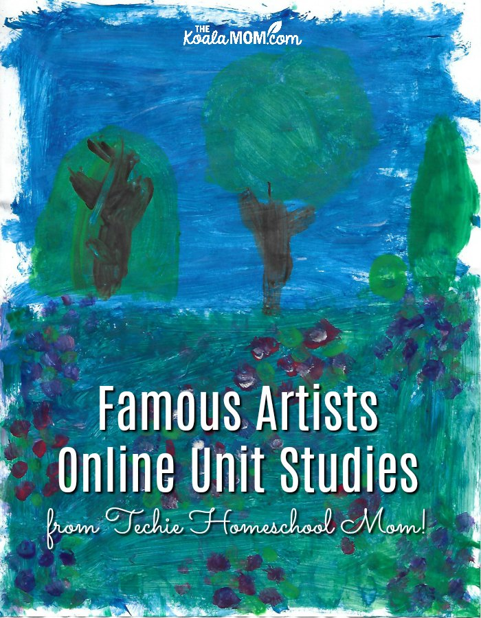 Famous Artists Online Unit Studies by Techie Homeschool Mom are tons of fun for homeschool students!