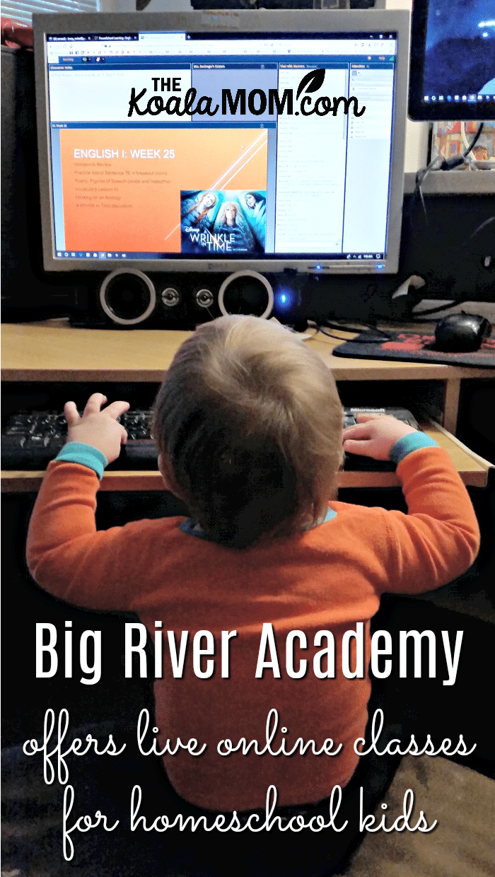 Big River Academy offers live online classes for homeschool kids