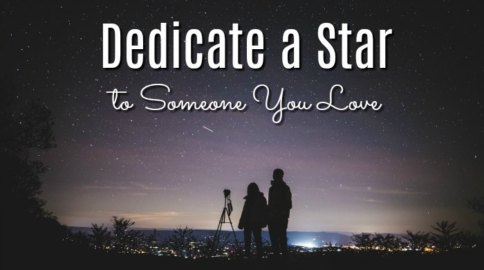 Dedicate a Star to Someone You Love with H. R. MacMillan Space Centre's program.