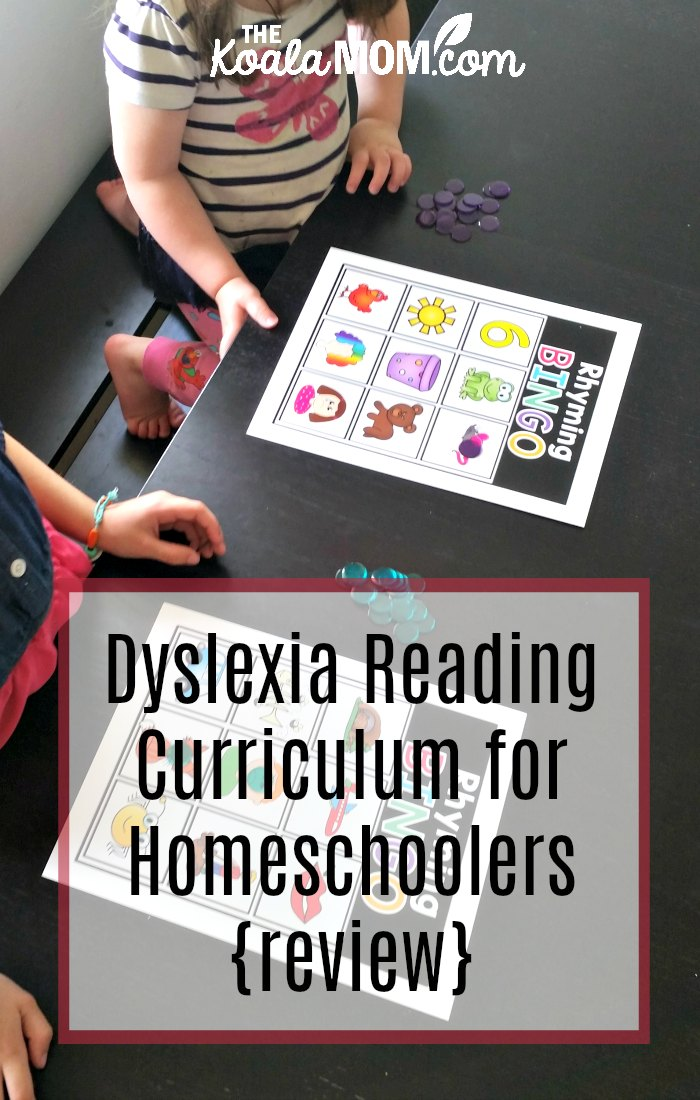 Dyslexia Reading Curriculum for Homeschoolers {review}