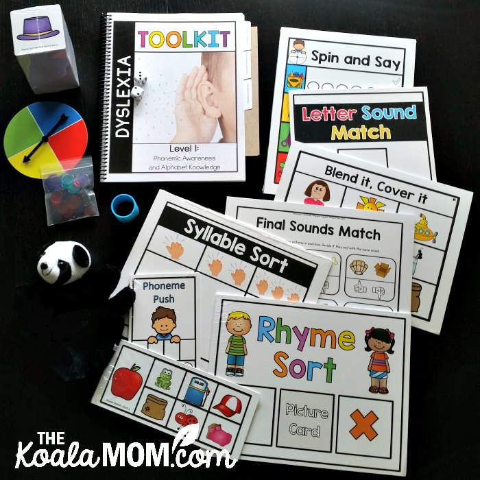 Dyslexia Toolkit from PDX Reading Specialist helps kids with phonological awareness and alphabet knowledge.