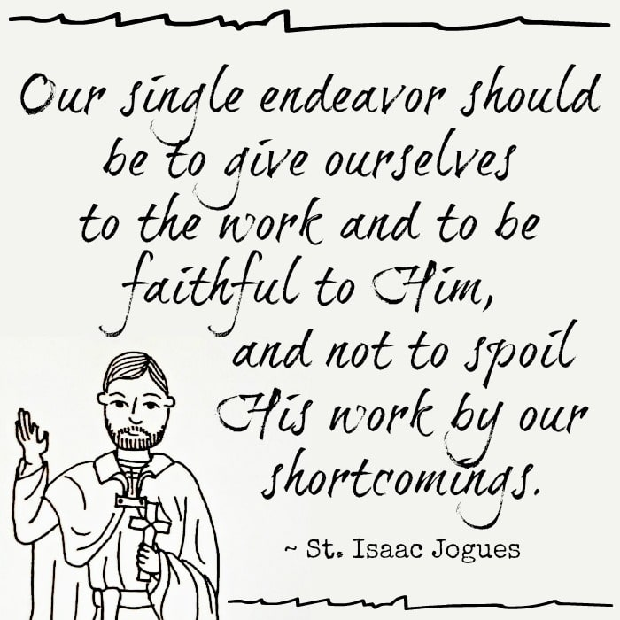 St. Isaac Jogues quote