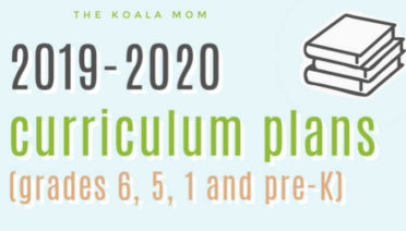 OUr 2019-2020 homeschool curriculum choices!