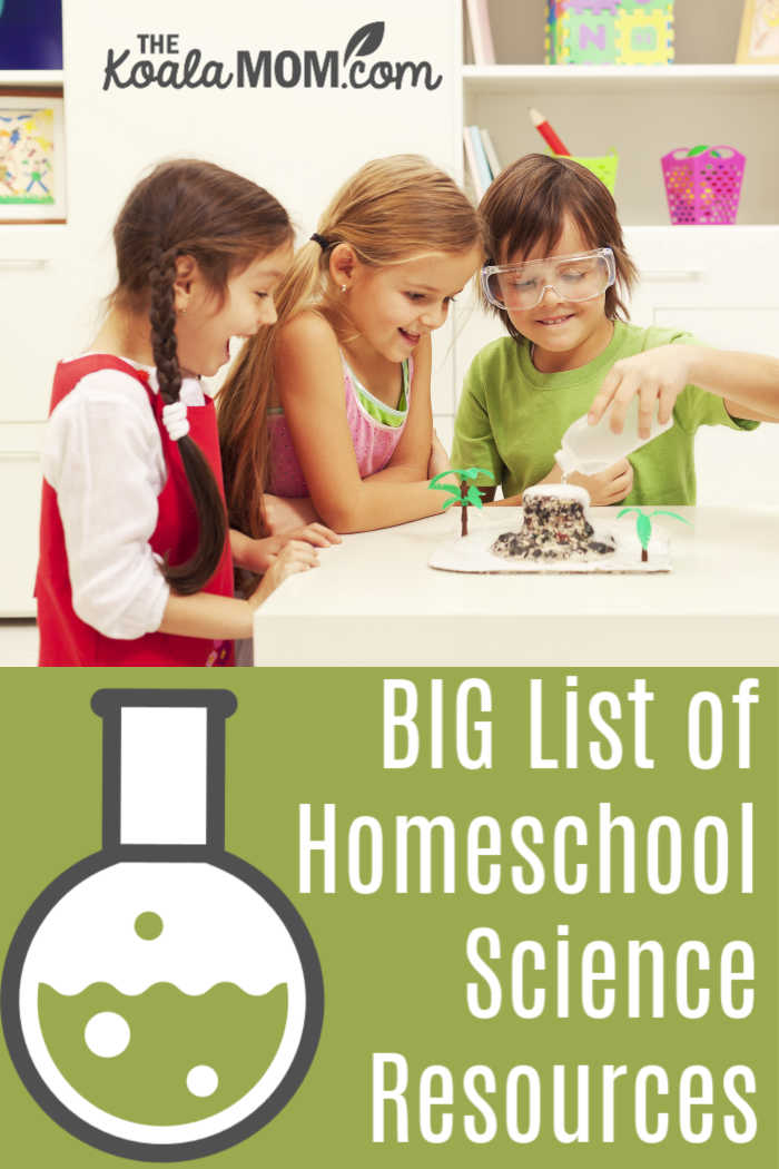 BIG List of Homeschool Science Resources {curriculum, unit studies & more!}