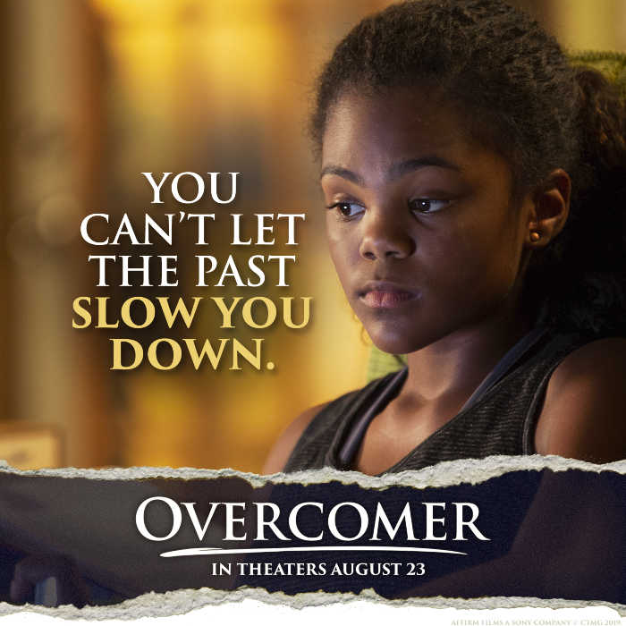 "Overcomer quote: ""You can't let the past slow you down."""