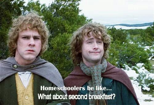 Homeschoolers be like... what about second breakfast?