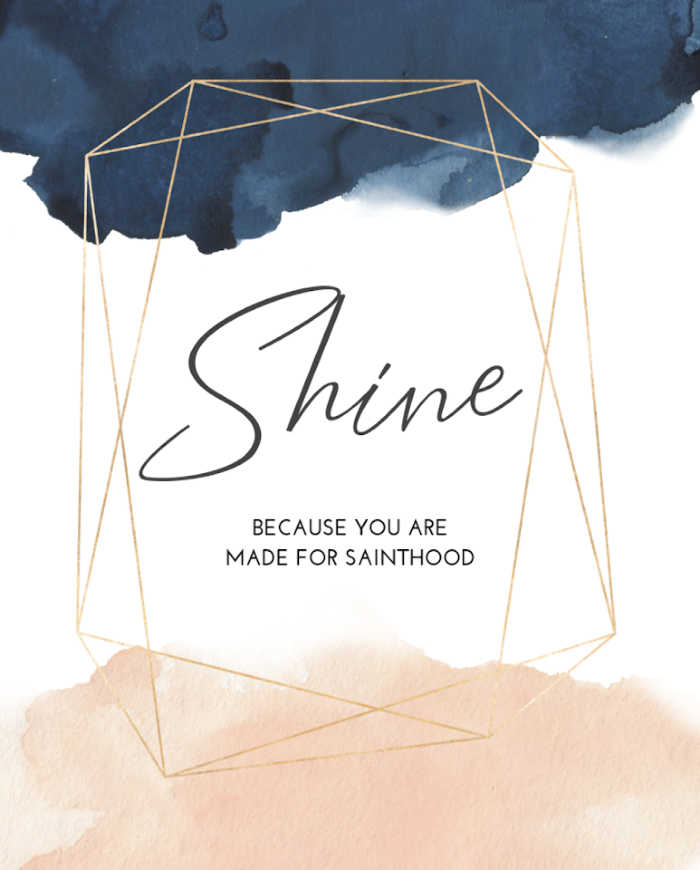 Shine Goals Planner by Sterling Jaquith (because you are made for sainthood)