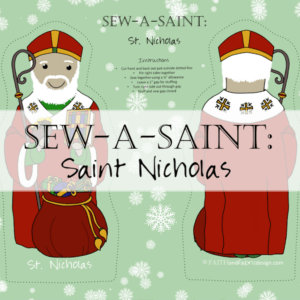 Sew a Saint Nicholas doll pattern from Faith and Fabric