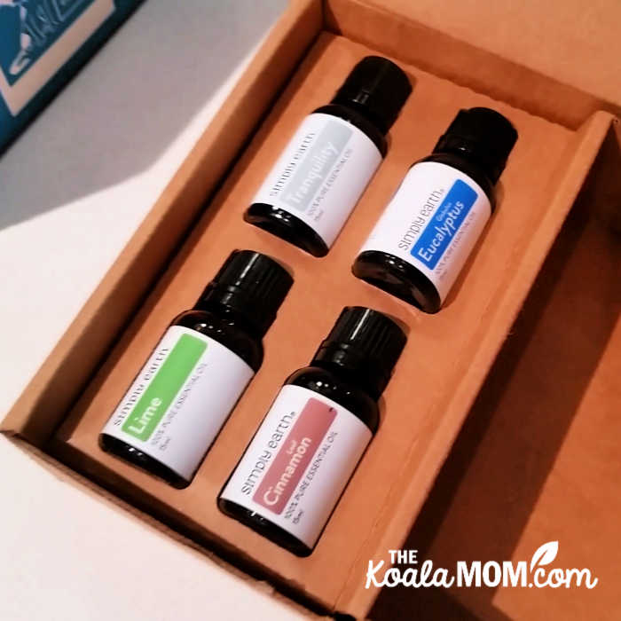 Four essential oils in the November Simply Eartrh box