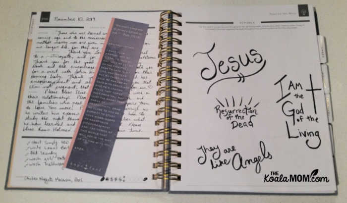 Inside the Hope Planner weekly schedule planner
