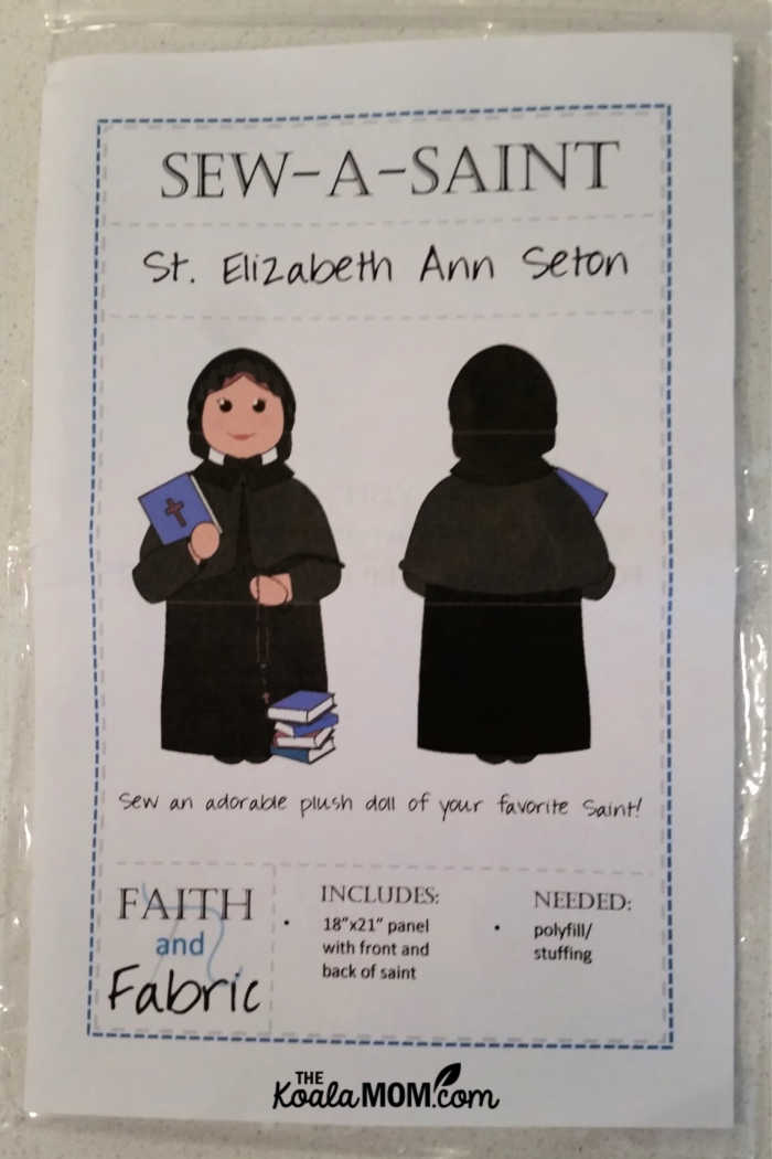 Sew-a-Saint pattern for St Elizabeth Ann Seton