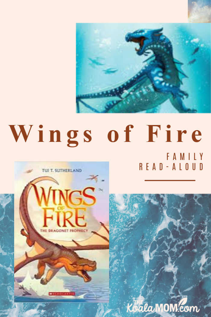 The Wings of Fire series by Tui T. Sutherland is a great family read-aloud!