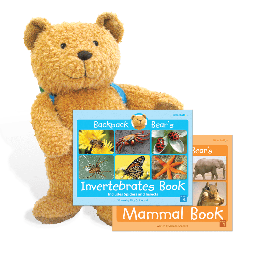Backpack Bear with books giveaway