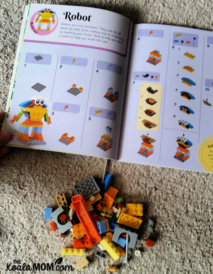 Building the robot in the Book of Bedtime Builds