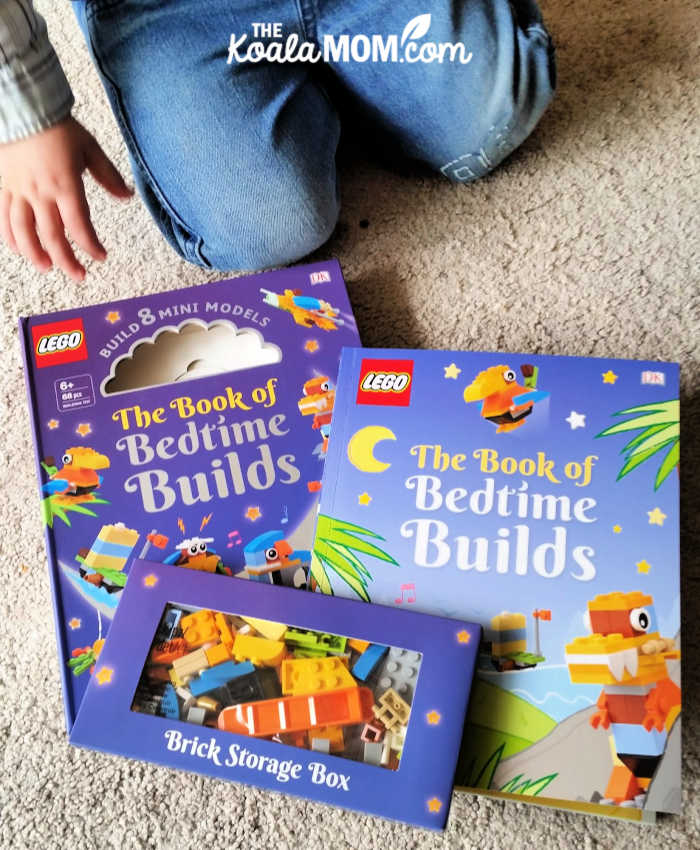 The Book of Bedtime Builds includes instructions for 8 different mini models and stories go with those models.