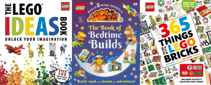 Three awesome Lego building ideas books for kids of all ages.