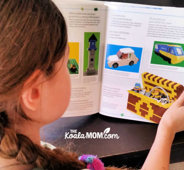 12-year-old reading the Lego Ideas Book