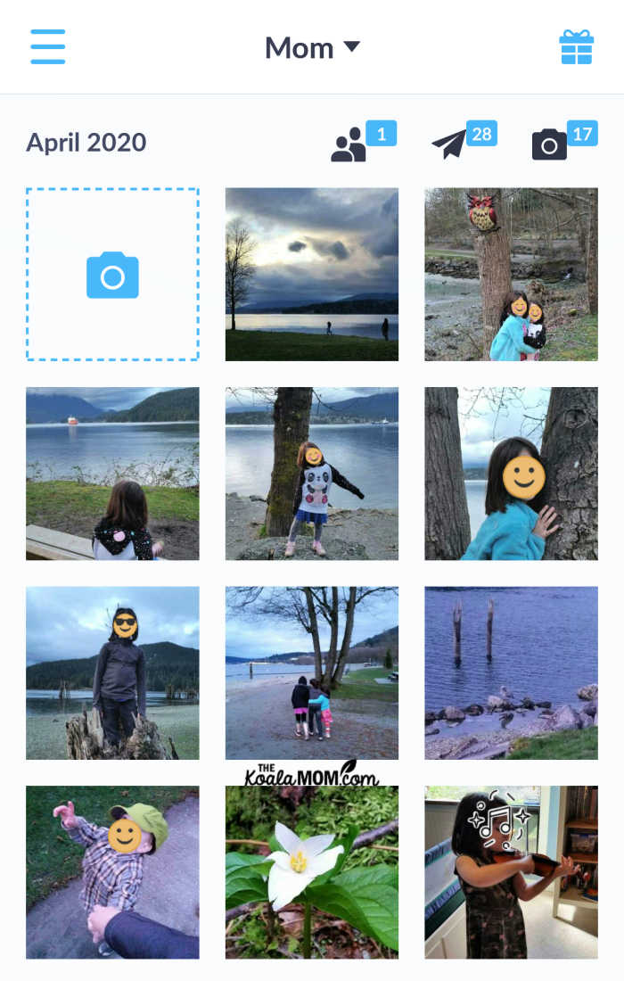 Create a family photo album on your phone with the Neveo app!