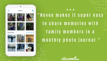 """Neveo makes it super easy to share memories with family members in a monthly photo journal."""