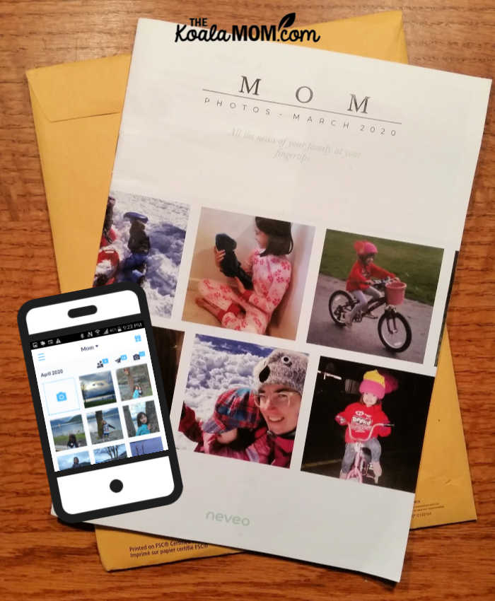 Our March 2020 Neveo journal, ready to mail to Mom!