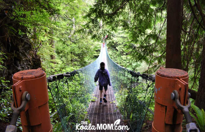 Suspension bridge on the Juan de Fuca Trail.