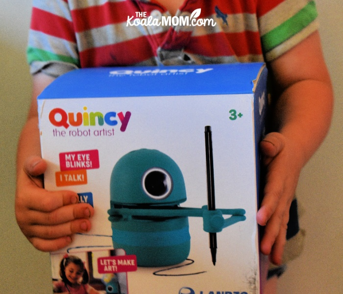 Quincy the Robot Artist blinks, talks and teaches kids how to draw!
