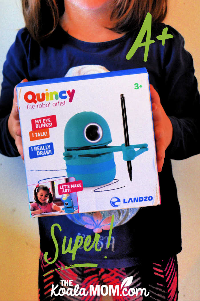 Quincey the Robot Artist talks, blinks and teaches kids to draw!