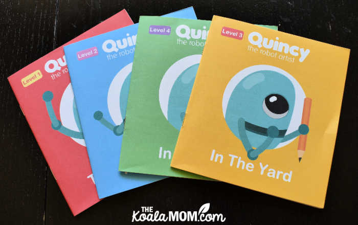 Quincy booklets help kids draw pictures and tell stories.